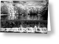 Old Mill Pond In Infrared Greeting Card
