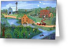 Old Mill Stream Greeting Card