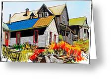 Old Mining Town Greeting Card