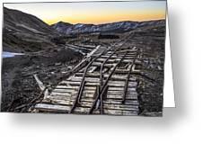 Old Mining Tracks Greeting Card