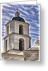 Old Mission San Luis Rey Tower - California Greeting Card