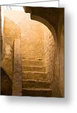 San Antonio Texas Concepcion Mission Stairs Greeting Card