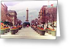 Old Montreal. Greeting Card