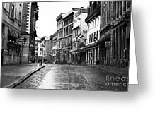 Old Montreal Streets Greeting Card