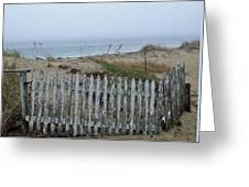 Old Nantucket Fence Greeting Card