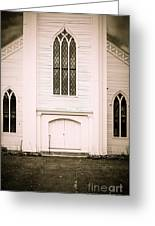 Old New England Gothic Church Greeting Card