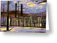 Old New Orleans Electric Plant Greeting Card