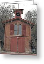 Old No.1 Fire House Galena Illinois. Greeting Card