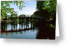 Old North Bridge Greeting Card by Jo Ann Snover