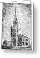 Old North Church, 1775 Greeting Card