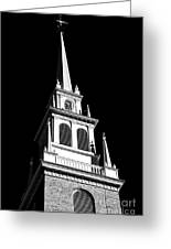 Old North Church Star Greeting Card