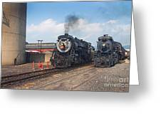 Old Number 3254 Under Steam Greeting Card