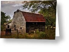 Old Oak Barn Greeting Card by Marty Koch