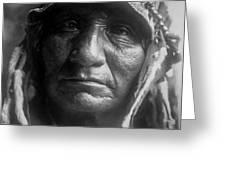 Old Oglala Man Circa 1907 Greeting Card by Aged Pixel