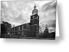 Old Otterbein Church In Black And White Greeting Card