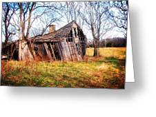 Old Ozark Home Greeting Card