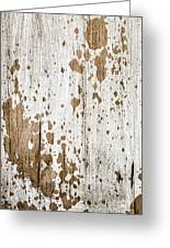 Old Painted Wood Abstract No.3 Greeting Card