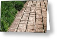 Old Pavers Alley Greeting Card by Olivier Le Queinec