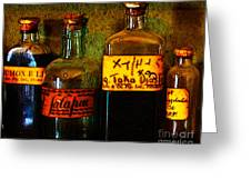 Old Pharmacy Bottles - 20130118 V1b Greeting Card