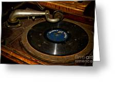 Old Phonograph Greeting Card