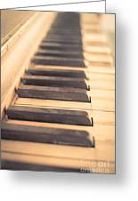 Old Piano Keys Greeting Card