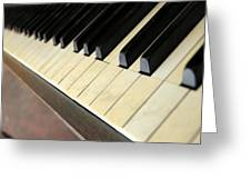 Old Piano Greeting Card