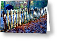 Old Picket Fence Greenbrier School Greeting Card