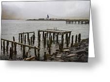 Old Pier In Siglufjordur Greeting Card
