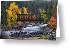Old Pipeline Bridge Greeting Card