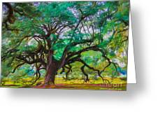 Old Plantation Oak Greeting Card