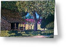 Old Plantation Tool House Greeting Card