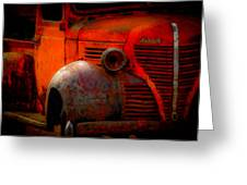 Old Plymouth Red Greeting Card