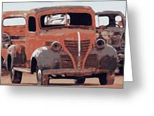 Old Plymouth Trucks Greeting Card
