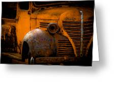 Old Plymouth Yellow Greeting Card