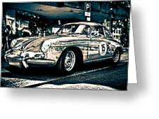 Old Porsche No.3 Toned Greeting Card