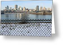 Old Port Of Montreal Greeting Card