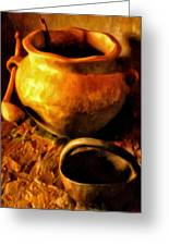 Old Pot And Ladle Greeting Card