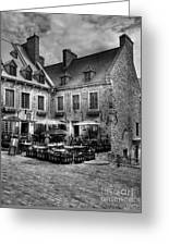 Old Quebec City Bw Greeting Card