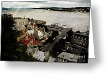 Old Quebec City By St.lawrence Greeting Card