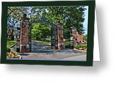Old Queens Entrance Gate Greeting Card