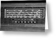 Old Radio Change The Station Greeting Card