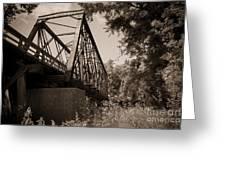 Old Rail Bridge Greeting Card