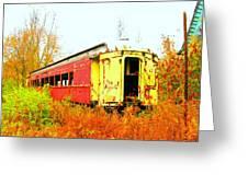 Old Rail Car Greeting Card