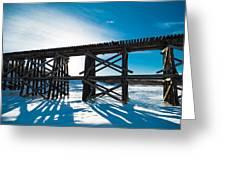 Old Rail Tressel Greeting Card