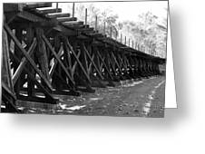 Old Rail Trestle Greeting Card