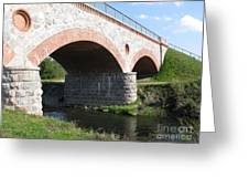 Old Railway Bridge In Silute. Lithuania. Summer Greeting Card