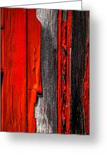 Old Red Barn Four Greeting Card
