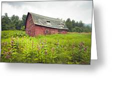 Old Red Barn In A Field - Rustic Landscapes Greeting Card