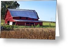 Old Red Barn Near Etowah Nc Greeting Card