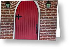 Old Red Door Bullet Shaped Greeting Card